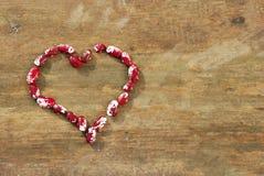 Coração dos feijões Imagens de Stock