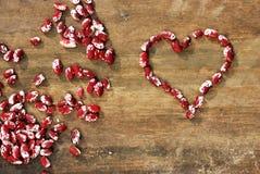 Coração dos feijões Fotos de Stock