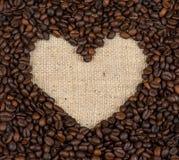Coração dos feijões de café Foto de Stock Royalty Free