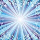 Coração dos flocos de neve ilustração stock