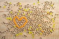 Coração dos grânulos Fotografia de Stock Royalty Free