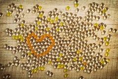 Coração dos grânulos Foto de Stock
