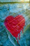 Coração dos grafittis Fotografia de Stock