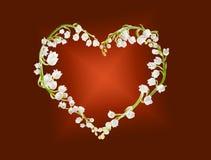 Coração dos lillies Fotografia de Stock Royalty Free