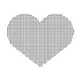Coração dos pontos isolados no fundo branco Fotos de Stock