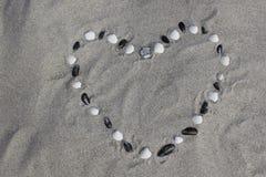 Coração dos shell Fotos de Stock Royalty Free