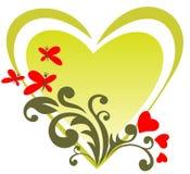 Coração dos Valentim ilustração stock