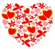 Coração dos Valentim ilustração royalty free