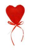 Coração dos Valentim com fitas foto de stock