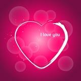Coração dos Valentim Fundo decorativo com bokeh Imagem de Stock