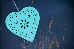 Coração dos Valentim no fundo envelhecido Imagem de Stock Royalty Free
