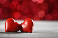 Coração dos Valentim para o amor Foto de Stock Royalty Free