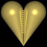 Coração dourado 002 Imagens de Stock Royalty Free