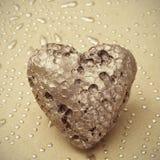 Coração dourado Foto de Stock Royalty Free