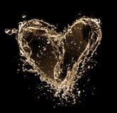 Coração dourado Foto de Stock