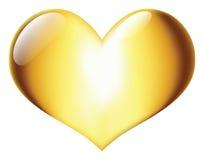 Coração dourado Fotografia de Stock Royalty Free