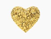 Coração dourado Imagem de Stock