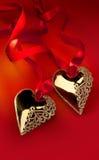 Coração dourado da arte Imagens de Stock