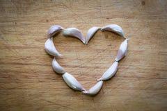 Coração e alho Imagem de Stock Royalty Free