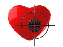 Coração e alvo vermelhos Fotos de Stock Royalty Free