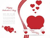 Coração e amor do dia de Valentim ilustração stock
