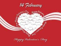 Coração e amor do dia de Valentim ilustração royalty free