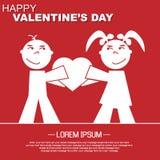 Coração e amor do dia de Valentim Imagens de Stock