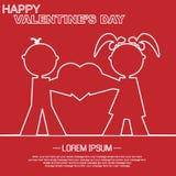 Coração e amor do dia de Valentim Fotos de Stock Royalty Free