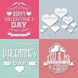 Coração e amor do dia de Valentim ilustração do vetor