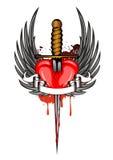 Coração e asas Foto de Stock