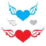 Coração e asas Fotos de Stock