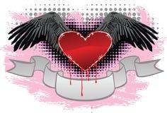 Coração e asas Imagens de Stock