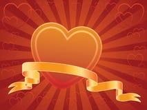 Coração e bandeira Ilustração Stock
