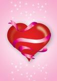 coração e bandeira Fotografia de Stock Royalty Free