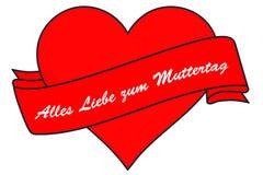 Coração e bandeira, o dia dos motherImagem de Stock