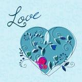 Coração e borboleta ilustração do vetor