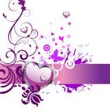 Coração e borboletas Foto de Stock Royalty Free