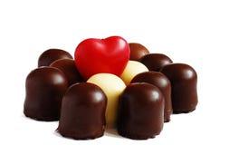 Coração e chocolate Imagem de Stock
