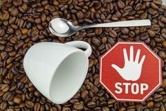 Coração e circulação do café imagens de stock royalty free