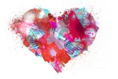 Coração, e cores do respingo Fotos de Stock Royalty Free