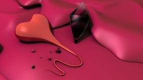 Coração e diamante Fotografia de Stock