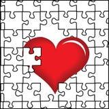 Coração e enigma Fotos de Stock Royalty Free