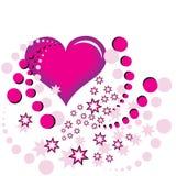 Coração e estrela cor-de-rosa Imagens de Stock