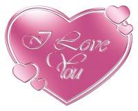 Coração e eu te amo Fotos de Stock