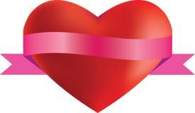 Coração e fita ilustração do vetor