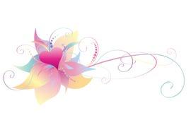 Coração e flor Foto de Stock