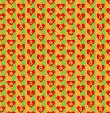 Coração e flores no fundo colorido brilhante Teste padrão sem emenda para o projeto Ilustração do vetor Imagem de Stock Royalty Free