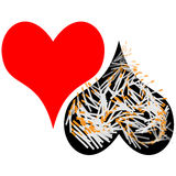Coração e fumo Imagens de Stock Royalty Free
