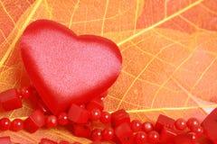 Coração e grânulos Foto de Stock Royalty Free