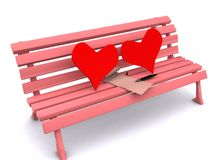 Coração e letra Imagens de Stock Royalty Free